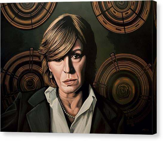 Roger Canvas Print - Marianne Faithfull Painting by Paul Meijering