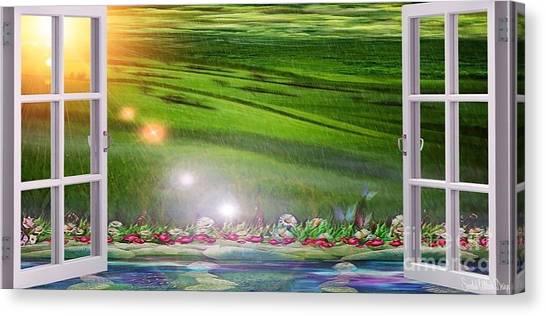 Mariannes Open Window Canvas Print