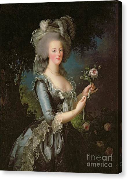 French Canvas Print - Marie Antoinette by Elisabeth Louise Vigee Lebrun