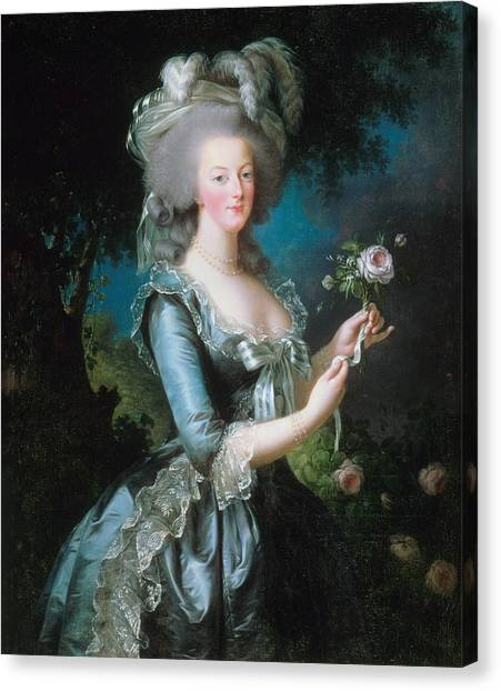 Rococo Art Canvas Print - Marie-antoinette With The Rose by Louise Elisabeth Vigee Le Brun