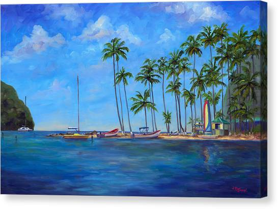 Island .oasis Canvas Print - Marigot Bay St. Lucia by Jeff Pittman