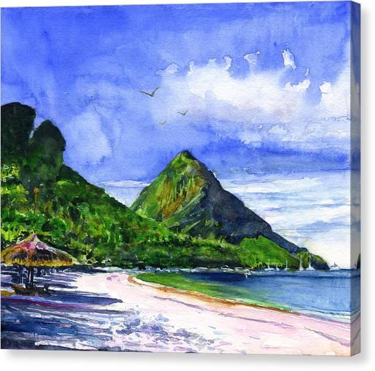 St. Lucia Canvas Print - Marigot Bay St Lucia by John D Benson