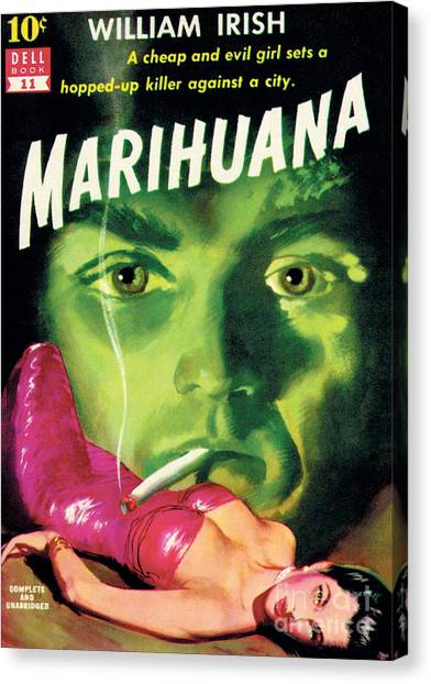 Pulp Fiction Canvas Print - Marihuana by Bill Fleming