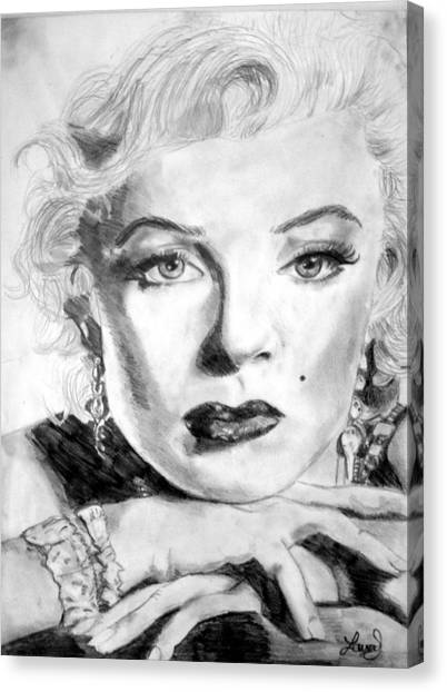 Marilyn In Pose Canvas Print by Laura Seed