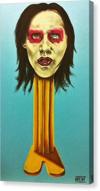 Marilyn Manson Canvas Print by Brent Andrew Doty