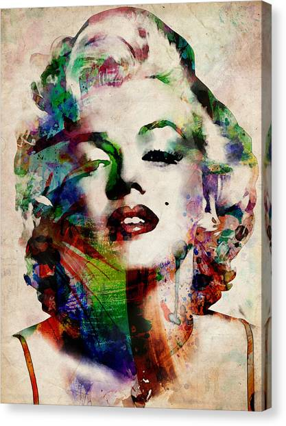Celebrity Canvas Print - Marilyn by Michael Tompsett