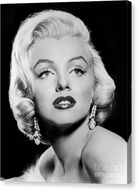 Joe Dimaggio Canvas Print - Marilyn Monroe 1957 by Jon Neidert