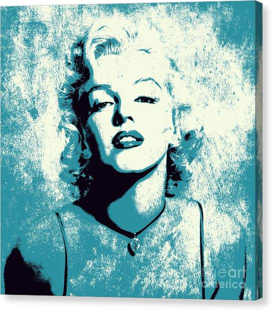 Marilyn Monroe Canvas Print - Marilyn Monroe - 201 by Variance Collections