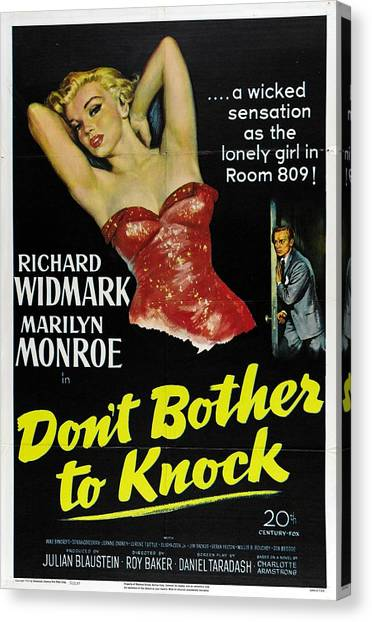 Marilyn Monroe And Richard Widmark In Don't Bother To Knock Canvas Print