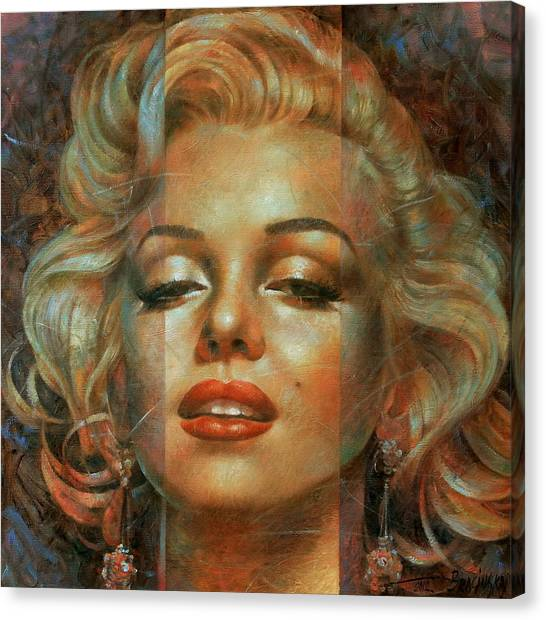 Marilyn Monroe Canvas Print - Marilyn Monroe by Arthur Braginsky