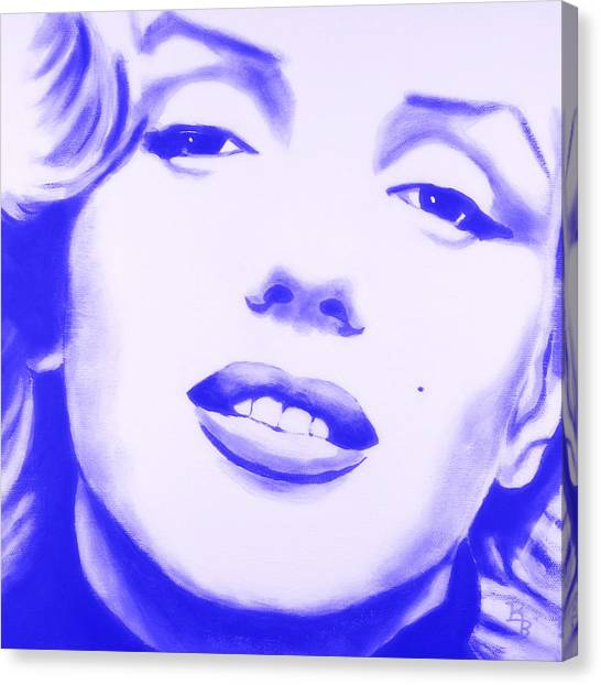 Marilyn Monroe - Blue Tint Canvas Print