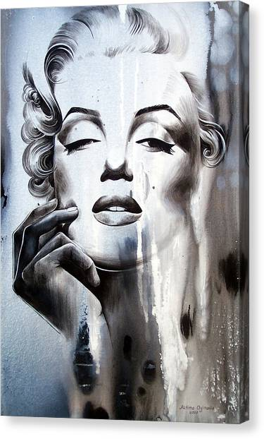 Actors Canvas Print - Marilyn Monroe by Fatima Azimova