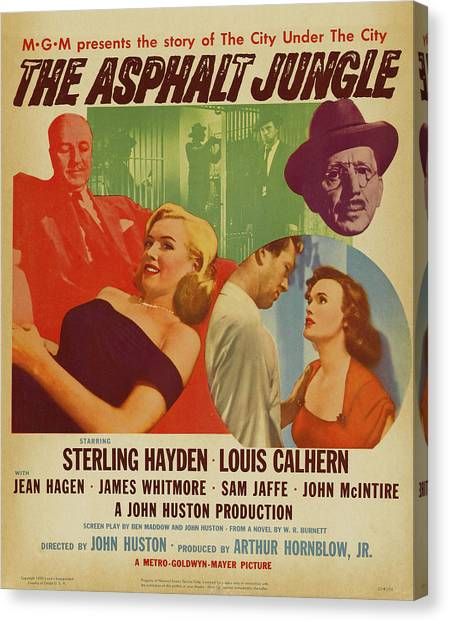 Marilyn Monroe In The Asphalt Jungle Movie Poster Canvas Print