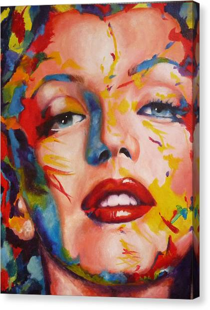 Marilyn Monroe Canvas Print - Marilyn Monroe by Jessica Arends