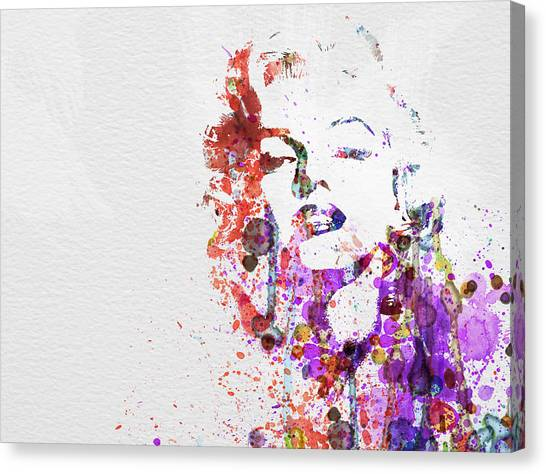 Monroe Canvas Print - Marilyn Monroe by Naxart Studio
