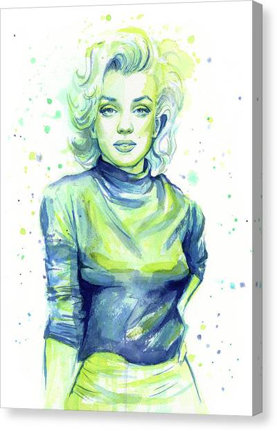 Actors Canvas Print - Marilyn Monroe by Olga Shvartsur