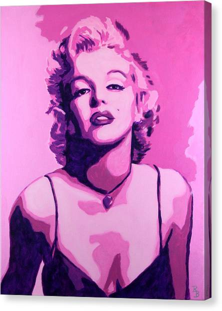 Marilyn Monroe - Pink Canvas Print