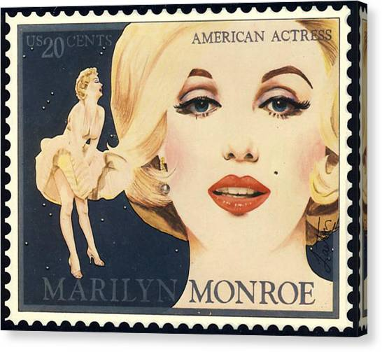 Marilyn Monroe Stamp Canvas Print