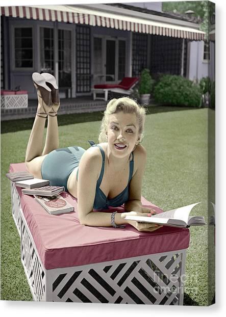 Marilyn Monroe Summer Reading Canvas Print