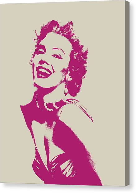 Monroe Canvas Print - Marilyn Monroe Vector Pop Art Portrait by Design Turnpike
