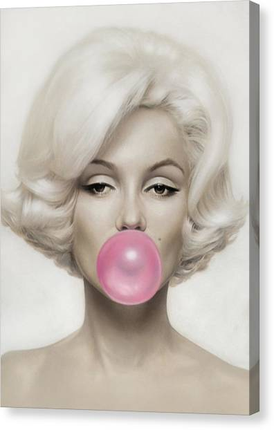 Actors Canvas Print - Marilyn Monroe by Vitor Costa