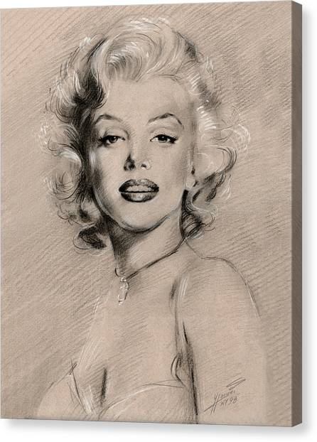 Actors Canvas Print - Marilyn Monroe by Ylli Haruni
