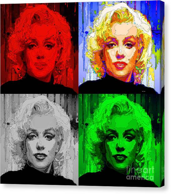 Marilyn Monroe - Quad. Pop Art Canvas Print