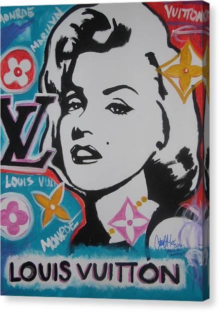 Marilyn Vuitton Canvas Print