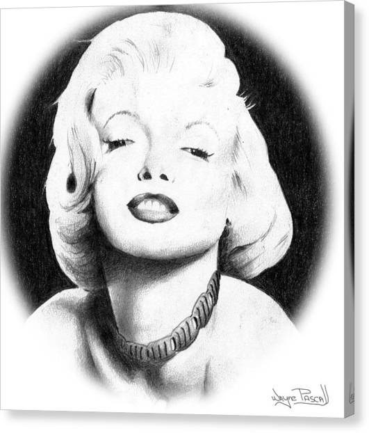 Marilyn Canvas Print by Wayne Pascall