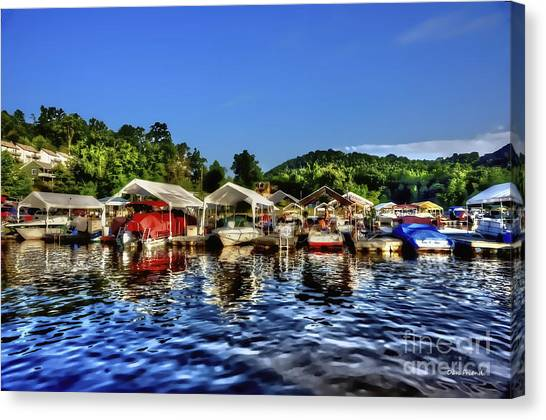 Marina At Cheat Lake Clear Day Canvas Print