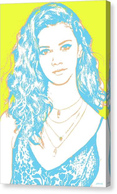Marinas Canvas Print - Marina Nery Pop Art by Greg Joens
