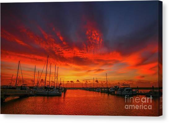 Marina Sunrise - Ft. Pierce Canvas Print