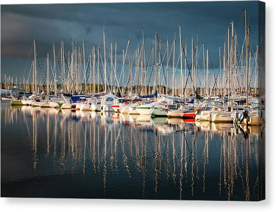 Marina Sunset 4 Canvas Print