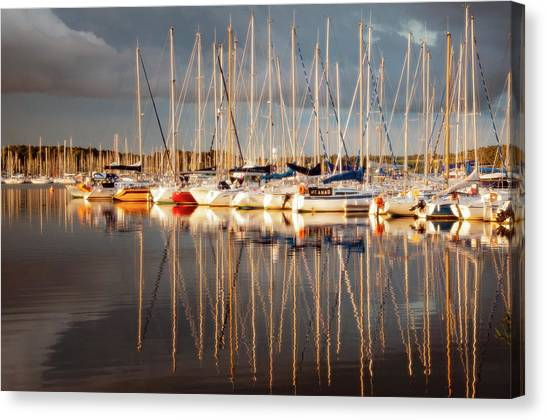 Marina Sunset 6 Canvas Print