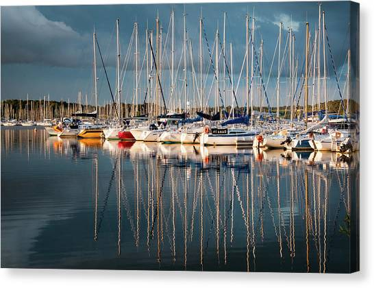 Marina Sunset 7 Canvas Print