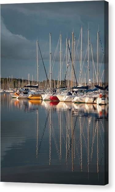 Marina Sunset 8 Canvas Print