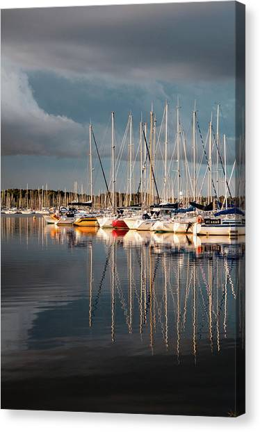 Marina Sunset 9 Canvas Print