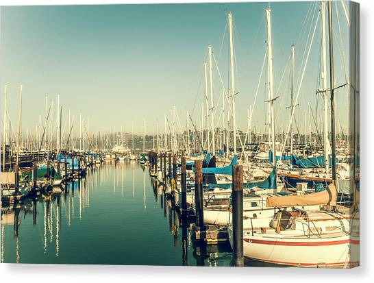 Marinaside Sausalito California Canvas Print