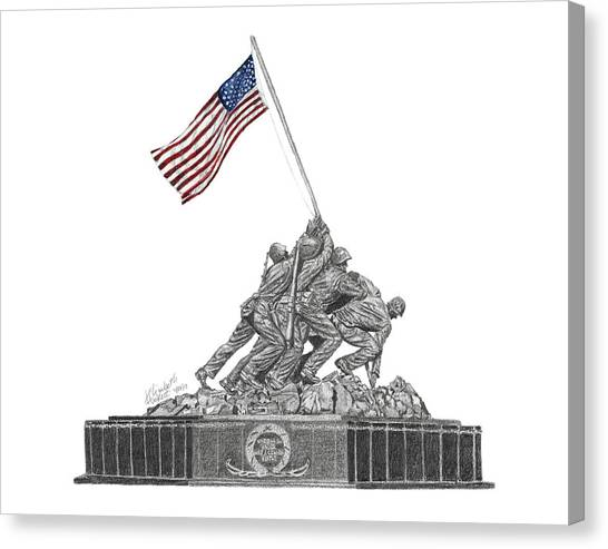 Marine Corps War Memorial - Iwo Jima Canvas Print