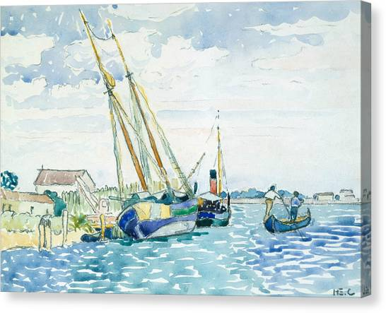 Divisionism Canvas Print - Marine Scene  by Henri-Edmond Cross