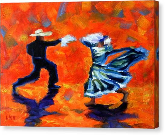Marinera Nortenia Red, Peru Impression Canvas Print