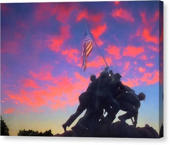 Marines At Dawn Canvas Print