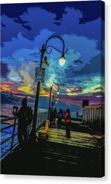 Marine's Silhouette  Canvas Print
