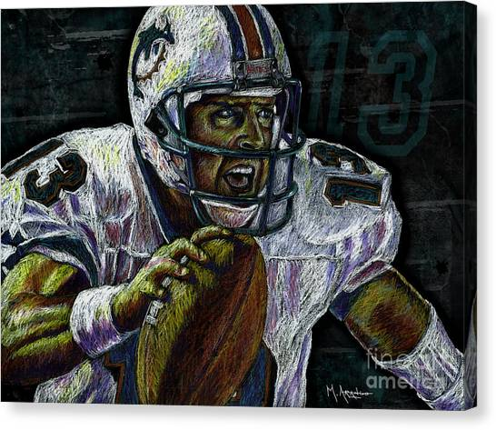 Quarterbacks Canvas Print - Marino by Maria Arango
