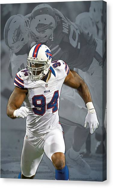 Buffalo Bills Canvas Print - Mario Williams Buffalo Bills by Joe Hamilton