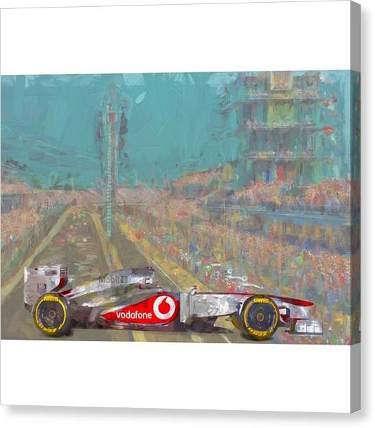 Racing Canvas Print - #mariokart @team_penske #penske by David Haskett II