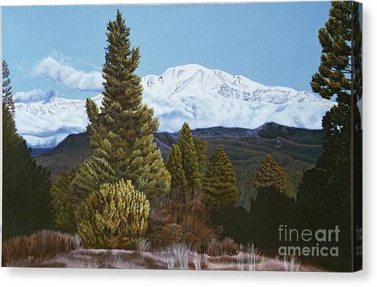 Marion Mountain In Winter Canvas Print by Jiji Lee