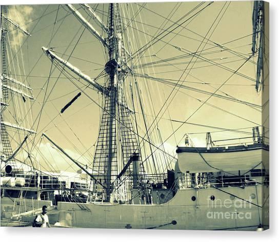 Maritime Spiderweb Canvas Print