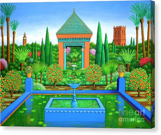 Orange Tree Canvas Print - Marjorelle Oranges by Larry Smart