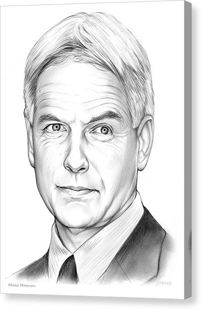 Hollywood Canvas Print - Mark Harmon by Greg Joens